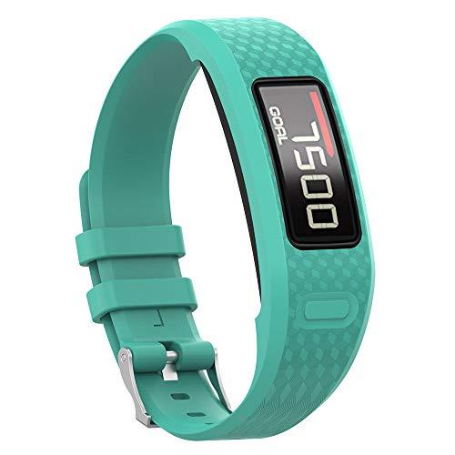 Uhrenarmbänder für Garmin Vivofit 1 Vivofit 2 Armband, Silikon Atmungsaktiv Replacement Uhrenarmband Sportarmband Band Erstatzband mit Schließe Bands Armband Band (Minzgrün)