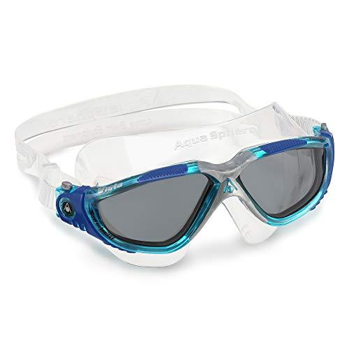 Aqua Sphere Vista Schwimmmaske, blau/getöntes Glas, Einheitsgröße
