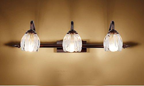 lampes simples de lampe frontale miroir LED américaine européennes miroir salle de bain meuble-lavabo salle de bain miroir avant mur Rétro (cote d'efficacité énergétique A +) ( taille : Trois )