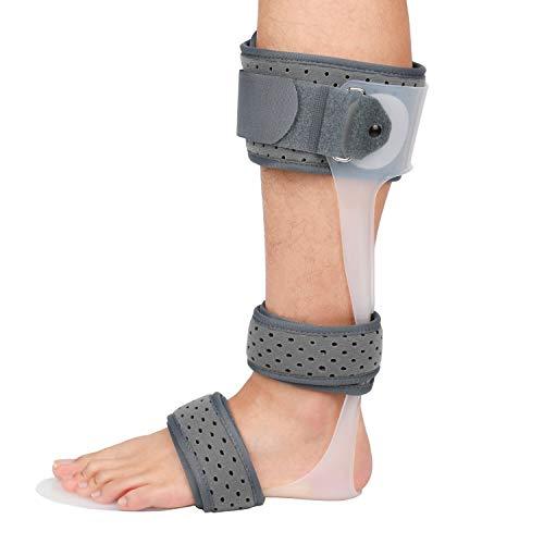 GHzzY Soporte de férula AFO - Ortesis de Tobillo y pie para caída flácida del pie, recuperación de Lesiones, Dolor Articular y Movimiento de dorsiflexión,Left,S
