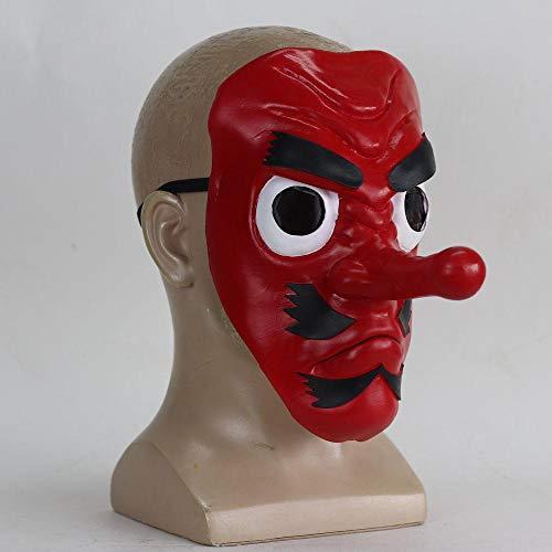 XWYWP Halloween Maske Anime Dämon Slayer Latex Cosplay Maske Kopfbedeckung Hannya Tengu Masken Halloween Party Maske Requisiten 1
