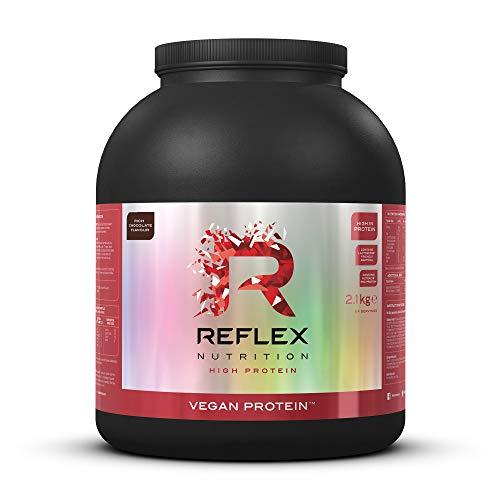 Photo of Reflex Nutrition Vegan Protein Powder Pea Protein Vegetarian 18g Protein 1.5g Carbs Per Serving (2.1kg) (Chocolate)