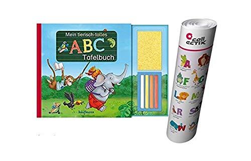 Mein tierisch-tolles ABC-Tafelbuch + ABC Buchstaben Lernen - Poster von Collectix