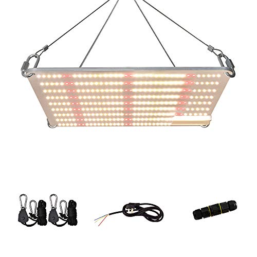 KCL PLG1500W Full Spectrum Led Grow Light with Samsung Diodes & MeanWell Driver Dimmable Lights 2x2 ft 3000K 4000K 660nm 760nm IR 324pcs LEDs Grow Lights for Indoor Plants