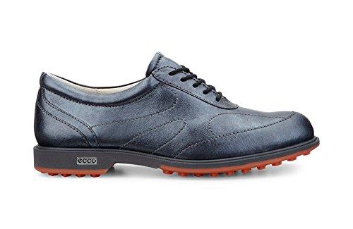 ECCO-Ibrido da Golf, Golf Scarpe Nero Metallico, Misura 37(UK4–4.5)