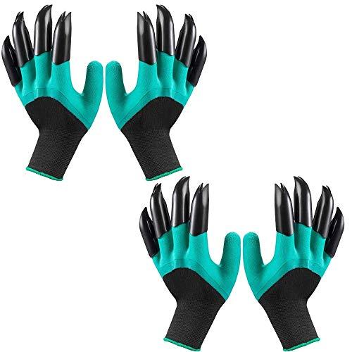 Garden Genie Handschuhe Krallen Wasserdicht Atmungsaktiv Gartenhandschuhe zum Graben Bepflanzen, Beste Gartenarbeit Geschenke für Frauen und Männer (2 Paar)