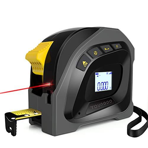 YOUNGDO 40M Digitale Laser Entfernungsmesse mit 5m Massband, Wiederaufladbar Lasermessgeräte, ±3mm, M/Ft/In, Ein-Klick-Änderung Ausgangspunkt der Messung, Pythagoras/Entfernung/Fläche/Volumen messen