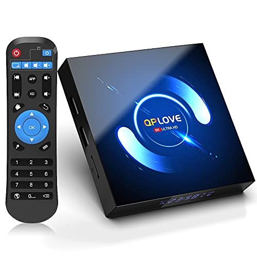 [2021 Upgrade] Android 10.0 TV Box, Android Box 4GB RAM 128GB ROM QPLOVE H616 Quad-core Smart Android TV Box 64bit, Support 3D 6K 2.4G 5.0G Dual WiFi with Bluetooth 5.0