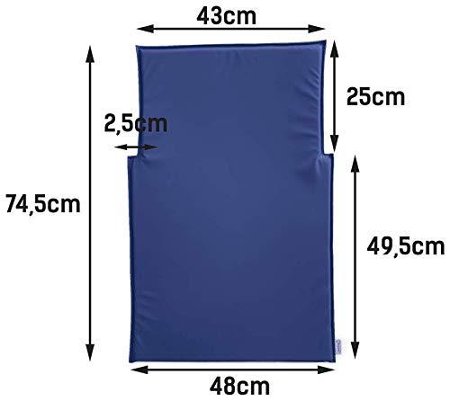 Wickeltisch-Auflage Kawabasic in blau oder weiß Timkid, Farbe:Weiß