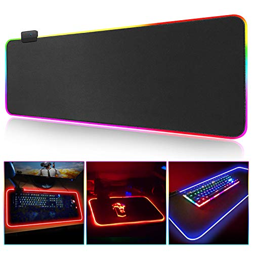 KEKWGS Mouse Pad Gaming Mouse Pad Großer RGB-Computer Mause Pad XXL Mousepad Gamer Tastatur Teppich Schreibtischmatte PC-Spiel Mouse Pad