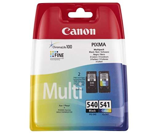 Canon 5225b007PG-540 / CL-541 BK / C / M / Y Tintenpatrone schwarz, blau, rosa, gelb