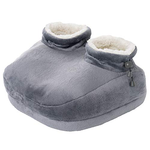 Pure Enrichment PureRelief Deluxe Foot Warmer - Super-Soft Sherpa-Lined, Fast-Heating Electric Boots...