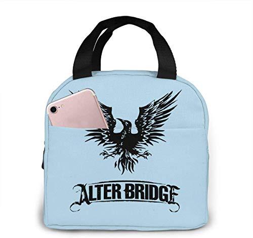 Bolsa de almuerzo, Caja de almuerzo con aislamiento, Alter Bridge Blackbird Logo Bolsa de almuerzo portátil Caja de almuerzo con aislamiento Bolsa de camping para trabajo, escuela, viajes