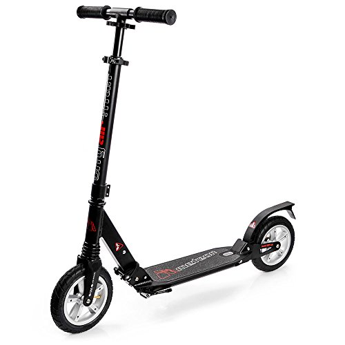 meteor® Scooter Big Wheel 200mm Titan AIR City Kickscooter Tret-Roller Scooter klapproller Kinder City-Roller Scooter Erwachsene Roller Kinder 6 Jahre -Sehr langlebig bis 100Kg -ABEC7 kugellager