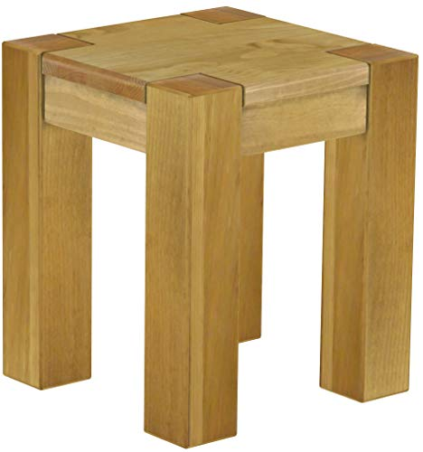 B.R.A.S.I.L.-Möbel Brasilmöbel Hocker Rio Kanto Brasil Pinie Massivholz Esszimmerbank Küchenbank Holzbank - Größe und Farbe wählbar