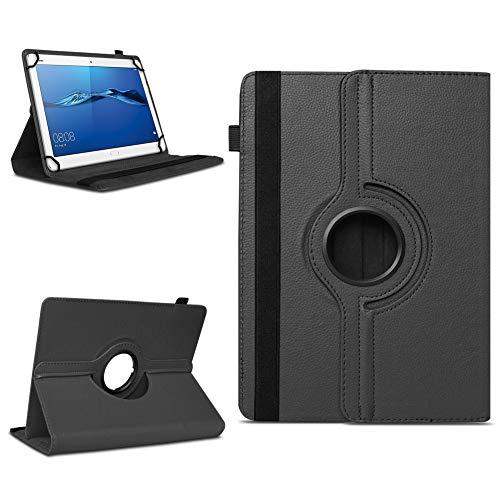 NAmobile Tablet Hülle kompatibel für Huawei MediaPad M3 Lite 8.0 Tasche Schutzhülle Hülle Cover 360° Drehbar, Farben:Schwarz