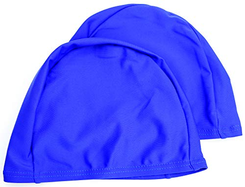 easyglide Cuffie 2 Pack Deluxe Spandex per Costume da Bagno in Tessuto Lycra per Adulto (Blu Reale, Adulto)