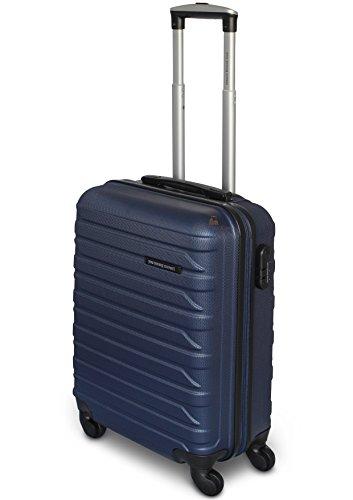 Trolley You Young Coveri 55x39x20 4 Ruote Antigraffio Impermeabile adatto come BAGAGLIO A MANO per tutti compagnie aeree (Blu)