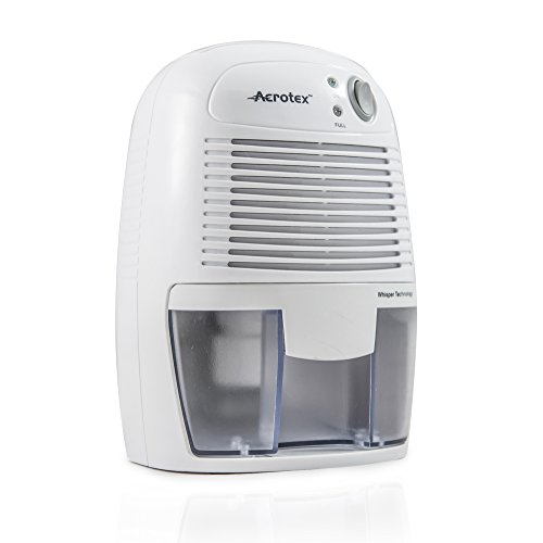 Aerotex amd-1W–Mini deumidificatore, LED, 23W, 500ml, colore: bianco