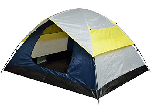Voroly Outdoor Waterproof Polyester Portable 2 Person Camping Tent (210 x 150 x 115 cm_White;Navy Blue;Yellow)