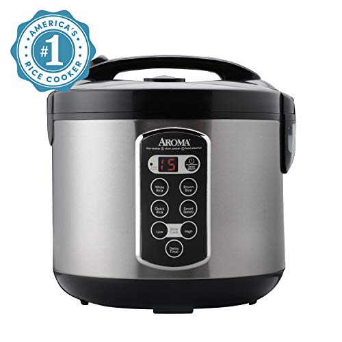 Aroma Housewares ARC2000ASB Professional 10Cupuncooked/20Cup Cooked Digital Rice CookerSilver