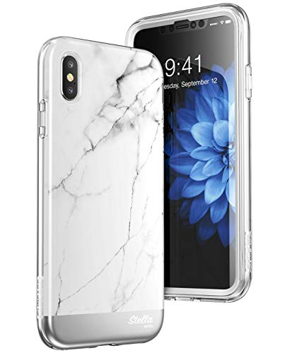 SUPCASE iPhone XS Max Marble Case with Screen Protector