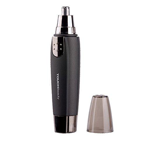 TOUCHBeauty AG-0526 Mini 360 degrés Tondeuse Rasoir Électrique à Piles pour les Poils du Nez et des Oreilles pour Homme(Nior)
