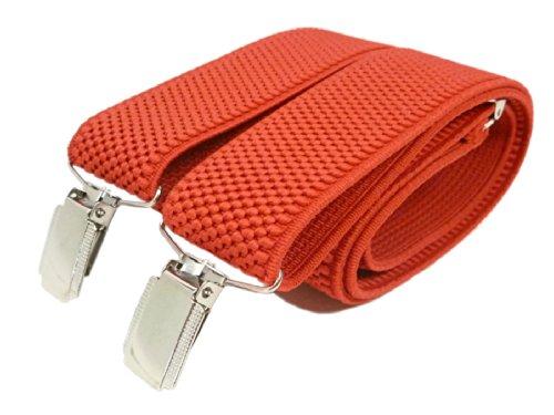 Olata Unisexe Bretelles entièrement réglable - 3.5cm. Rouge