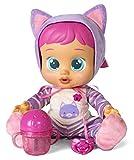 Bebés Llorones Katie - Muñeca interactiva que llora de verdad con chupete y pijama de Gatita