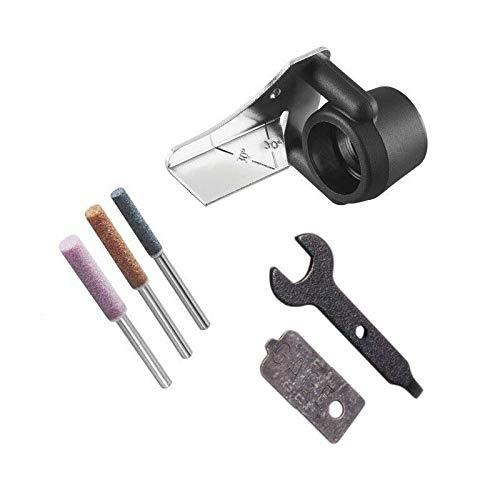Vogueing Tool Kit de afilar motosierra herramienta de afilado, herramienta de afilado, piedra de afilar para taladro giratorio (paquete de 6)