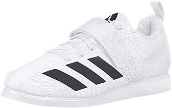 adidas Men's Powerlift 4 Weightlifting Shoe, White/Black/White, 8 M US