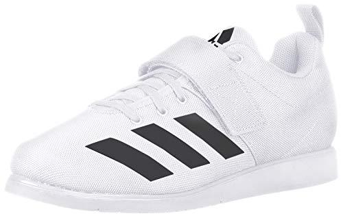 adidas Men's Powerlift 4 Weightlifting Shoe, White/Black/White, 11 M US