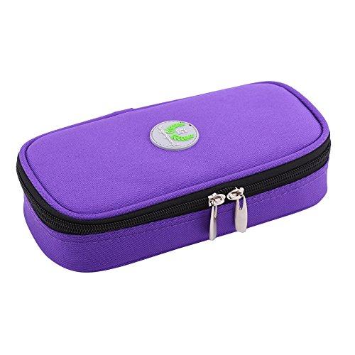 Zerodis Diabetikertasche diabetischer Insulin Kühler tragender Fall Taschen Organisator medizinischer Isolierkühlung Reise Kasten (Lila)