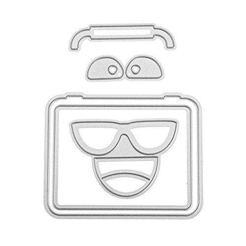 Domybest 5 stuks metalen koffers, reliëf, voor scrapbooking, decoratie thuis, knutselen