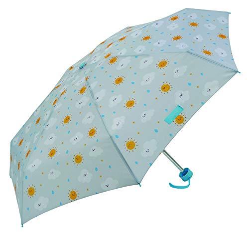 Mr.Wonderful - Paraguas Plegable Manual | Paraguas Antiviento Pequeño y Compacto Ideal para Viajes, Mujer - Gris