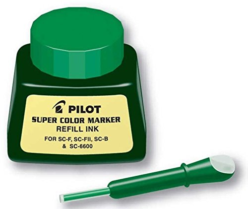PILOT Super Color Permanent Marker Refill Ink, Green Ink, 1 Ounce Bottle with Dropper (43800)