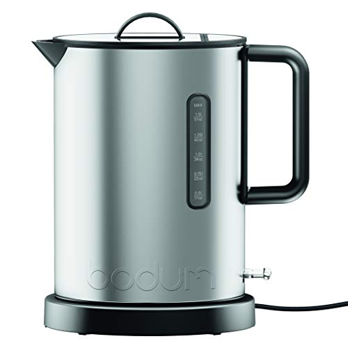 Bodum Ibis Stainless Steel Electric Water Kettle, 51 Ounce, Matte Chrome