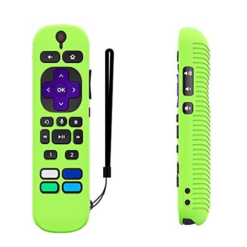 QERMULA Remote Case Compatible con Roku Voice Remote Pro Funda Protectora de Silicona Impermeable Accesorios de Video para TV Funda Protectora remota Luminous Green
