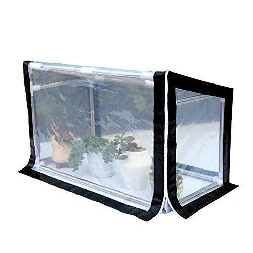 Lqqdp Gewächshaus Gewächshaus im Freien, Extra Breit mit PE-Abdeckung Grow House/Portable, für Indoor Patio Hot House Garten/Tomatenanbau Anbau (Size : 80x30x40/31.5x11.8x19.7'')