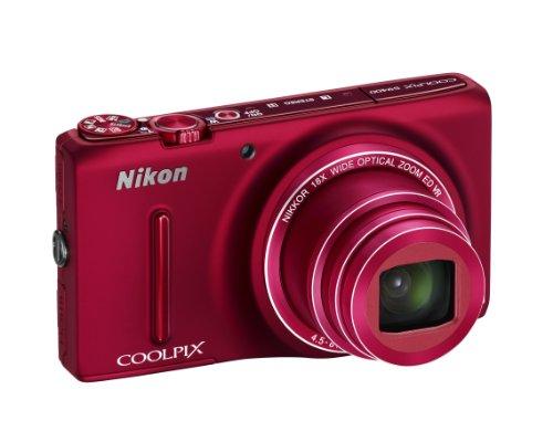 Nikon Coolpix S9400 Digitalkamera (18 Megapixel, 18-Fach Opt. Zoom, 7,6 cm (3 Zoll) OLED-Bildschirm, Bildstabilisator) rot
