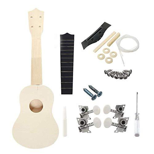 Kit de ukelele de madera pequeña para manualidades con guitarra, 1 juego de pintura para ukelele de madera, para niños, estudiantes, principiantes, creatividad.
