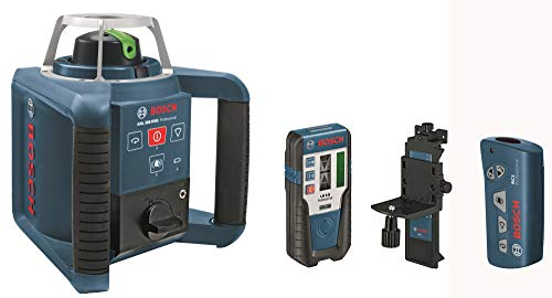 Bosch Professional Rotationslaser GRL 300 HVG (grüne Laserlinie, Laserempfänger LR 1 G, Arbeitsbereich: bis zu 300 m (Durchmesser), im Handwerkerkoffer)
