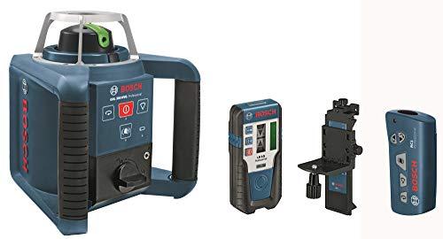 Bosch Professional GRL 300 HVG, 300 m Arbeitsbereich mit Empfänger, 100 m Arbeitsbereich, Transportkoffer, Empfänger, Wandhalter, Fernbedienung
