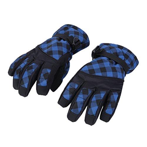 Kitechildhssd Invierno cálido al Aire Libre a Prueba de Viento Impermeable Nieve esquí Ciclismo Guantes OUTAD Azul M