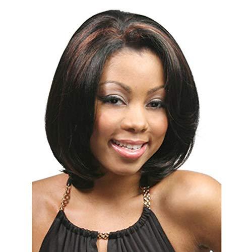 Noir met en valeur les cheveux courts et raides de Bob, 30 cm,cheveux naturels, de la soie haute température en fibres chimiques, des perruques pour femmes pour un usage quotidien et une fête