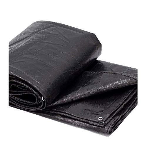 FJDEYB Allzweck-Poly Tarps wasserdicht schwarz Baldachin Zelt Abdeckung Sonnenschirm Depots Anzüge für Shelter für Auto Boote Pool Regenschutzplane Multi-Größe (Size : 4mx6m)