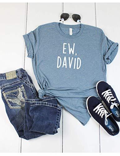 Ew, David T Shirt Womens T-Shirt Casual Top Graphic Tee Short Sleeve...