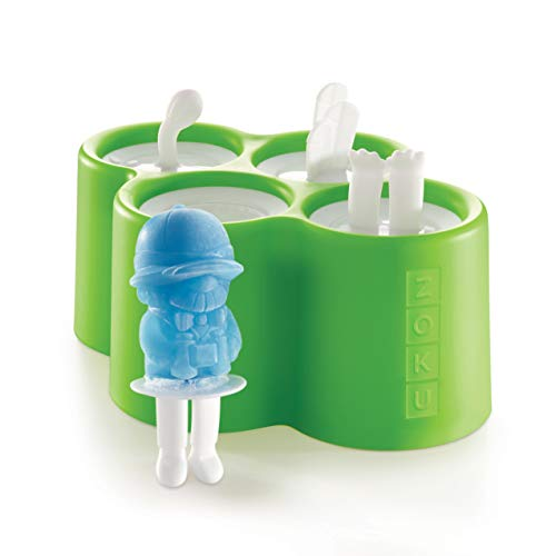 Zoku Safari Pop Molds, 4 Different Easy-release Silicone Popsicle Molds in One Tray, Fun Jungle-inspired Designs, BPA-free