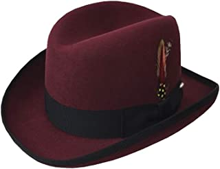 e1d419c9247 EZ Tuxedo Deluxe Homburg Fedora in Bordeaux with Black Band
