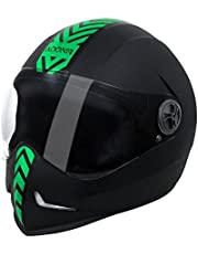 Steelbird Helmet Adonis Dashing-Black with Green Sticker